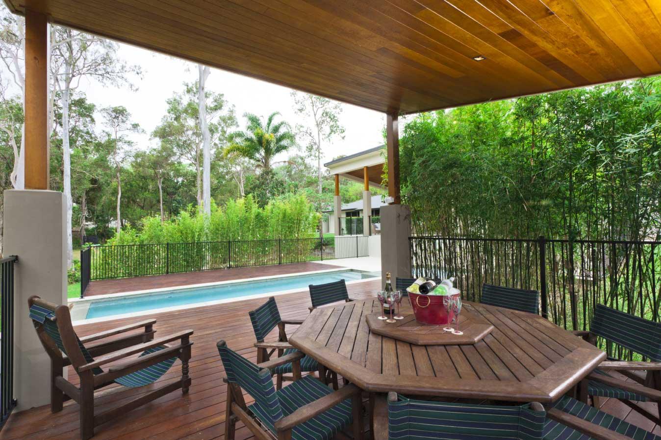 Deck build around above ground pool Logan Village QLD